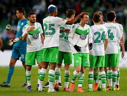 Erlösender Heimsieg: Wolfsburgs Spieler nach dem 2:0 gegen Ingolstadt