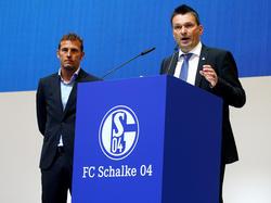 Christian Heidel (r.) sieht großes Potenzial bei Schalke