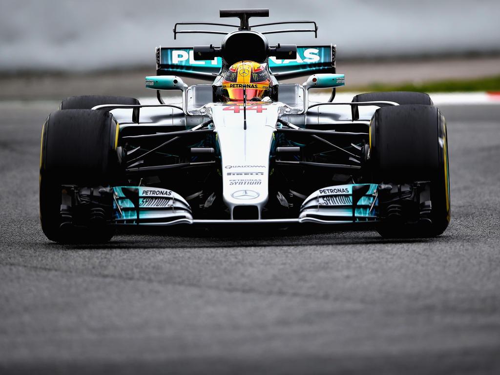 Lewis Hamilton und Mercedes werden in Barcelona immer schneller