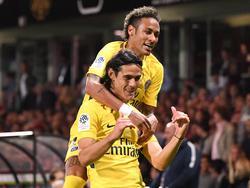 Neymar und Edinson Cavani ließen PSG in Guingamp jubeln