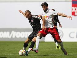Das Hinspiel gewann St. Pauli in Leipzig mit 1:0