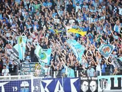 Die Chemnitzer Fans zündelten unerlaubterweise
