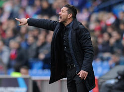 Atlético Madrids Coach Diego Simeone wurde für drei Spiele gesperrt