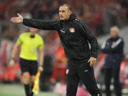 Leverkusens neuer  Coach Heiko Herrlich hadert mit der Chancenauswertung