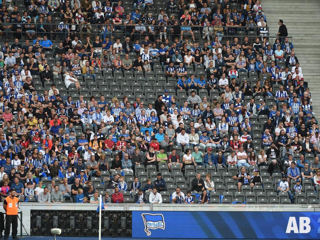 Viele freie Plätze im Olympiastadion wird es wohl auch gegen Athletic Bilbao geben