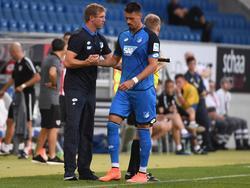 Coach Julian Nagelsmann (l.) mit einem seiner Top-Stürmer, Sandro Wagner