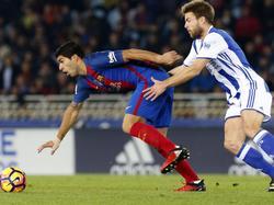 Real Sociedad stellte Barcelona um Luis Suárez (l.) einmal mehr vor Probleme