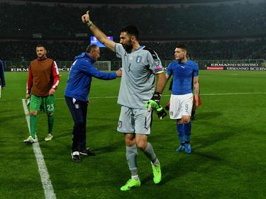 Italiens Torwart Gianluigi Buffon absolvierte das 1000. Spiel seiner Karriere