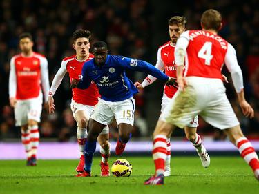 Jeffrey Schlupp (Bildmitte) wechselt von Leicester City zu Crystal Palace