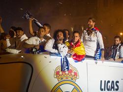 Die Real-Profis feierten den Meister-Titel mit den Fans