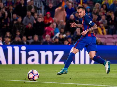 Paco Alcácer volvió a reencontrarse con el gol en el Camp Nou. (Foto: Getty)