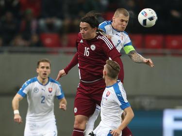 Viel Kampf und keine Tore im Spiel der Slowakei gegen Lettland