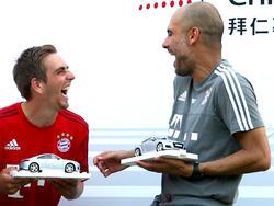 Verstehen sich prächtig: Philipp Lahm (l.) und Pep Guardiola