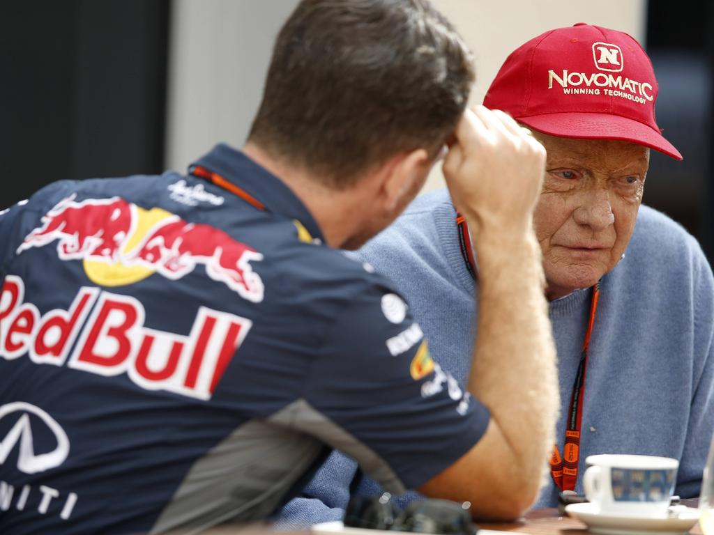 Christian Horner und Niki Lauda haben offenbar noch ein Hühnchen zu rupfen