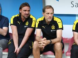Daniel Farke (l.) heuert bei Norwich City an