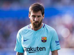 Lionel Messi is gefocust in het duel met Deportivo Alavés. (26-08-2017)