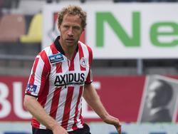 Michel Breuer in de Jupiler League-wedstrijd van Sparta Rotterdam tegen FC Emmen. (21-04-14)