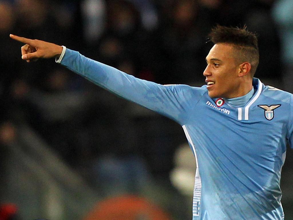 Brayan Perea, con la elástica de la Lazio | Foto: AFP.