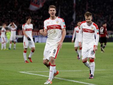Simon Terodde will mit dem VfB Stuttgart so schnell es geht aufsteigen
