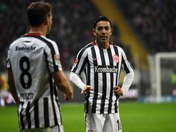Huszti und Fabián (v.l.) fehlen der Eintracht am Wochenende