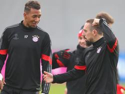 Möchten bald wieder zusammen auf dem Feld stehen: Boateng (l.) und Ribéry