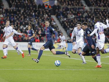 Di Maria (4.v.r.) und Lavezzi (2.v.r.) schossen die Tore für PSG