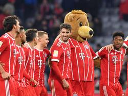 """Der FC Bayern feiert nach dem 3.0 gegen Augsburg einen """"Super Spieltag"""""""