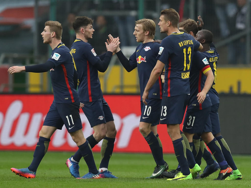 Zwei Mal durfte Leipzig gegen Gladbach jubeln