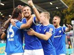 Grund zur Freude bei Torschütze Großkreutz: Darmstadt besiegt St. Pauli mit 3:0