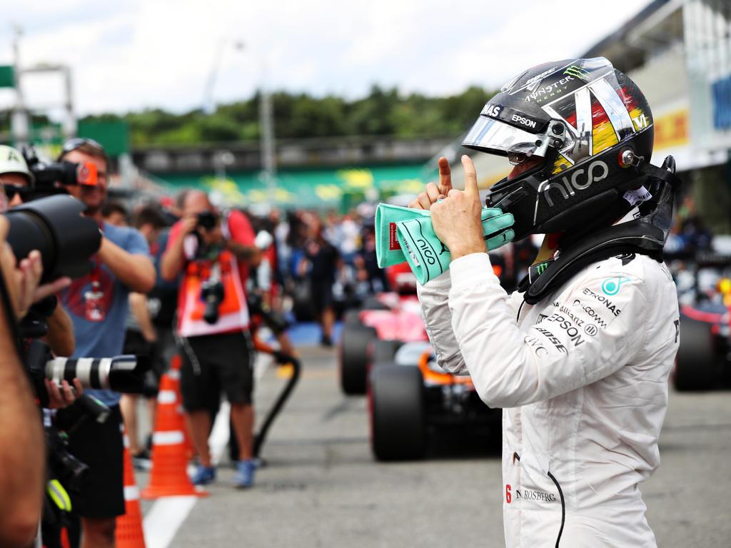 Pole-Position: Nico Rosberg hat allen Grund, vor seinen Heimfans zu jubeln