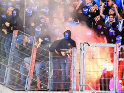 Beim Derby in Stuttgart fielen KSC-Fans negativ auf