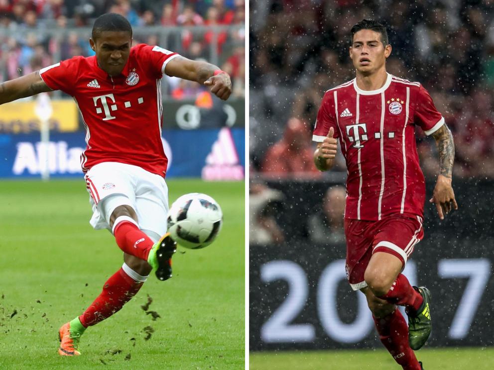 Bayern München: Top-Abgang: Douglas Costa; Top-Zugang: James Rodríguez
