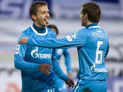 Domenico Criscito (l.) spielt seit 2011 für Zenit St. Petersburg
