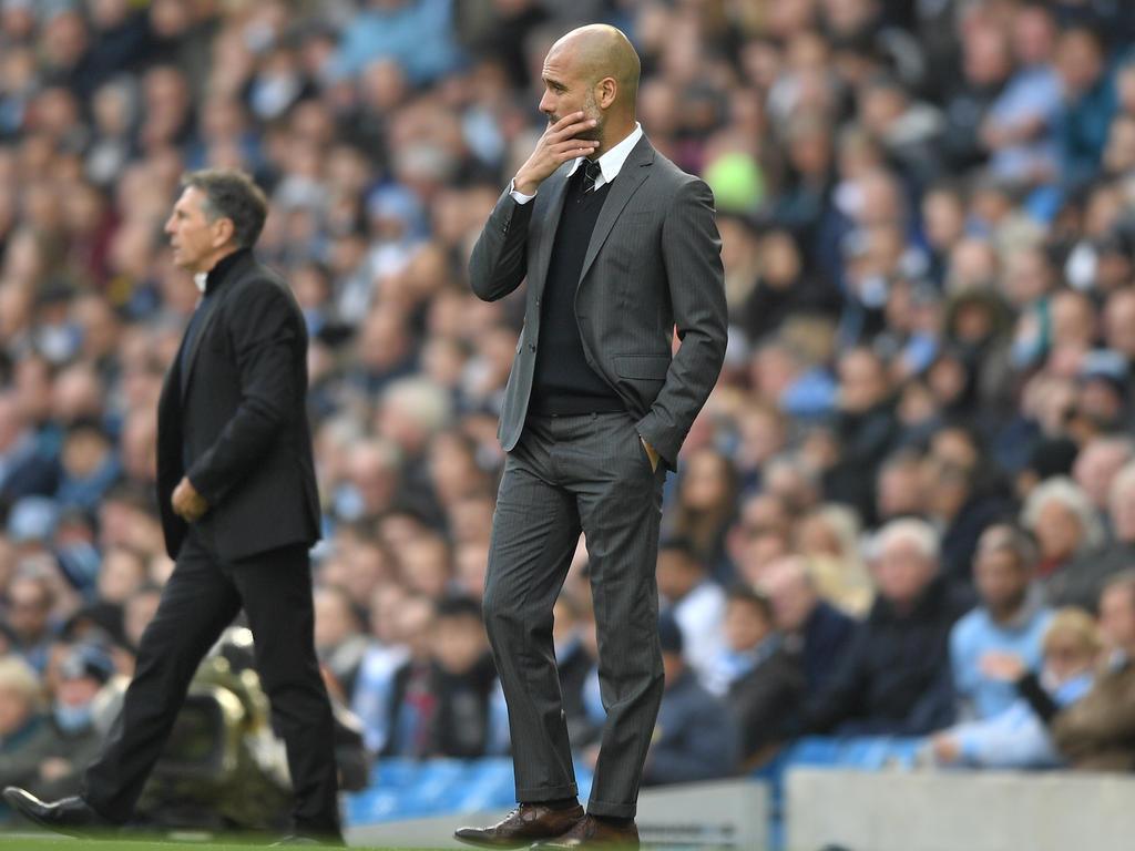Pep Guardiola ist bei Manchester City nicht glücklich