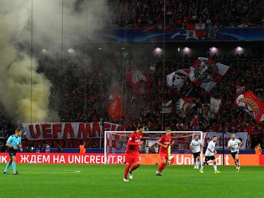 Die Spartak-Fans positionieren sich gegen die UEFA