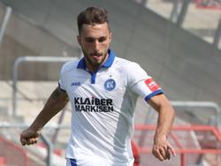 Erzielte in Rostock gleich zwei Treffer: Fabian Schleusener