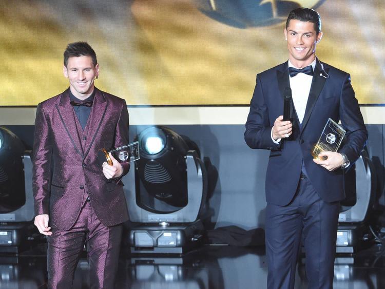Lionel Messi (l.) und Cristiano Ronaldo sind für die Wahl nominiert