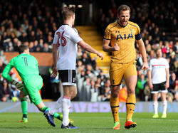 Stürmer Harry Kane erzielte gegen Fulham alle drei Treffer