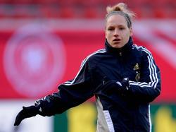 Babett Peter beim Training der Nationalmannschaft