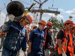 Ein Baustopp verzögert die Bauarbeiten am Stadion in St. Petersburg