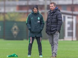 """Alexander Nouri (l.) und Frank Baumann haben """"Bock"""" auf Dortmund"""