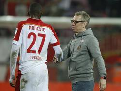FC-Trainer Peter Stöger sieht einen möglichen Ausfall von Anthony Modeste gelassen