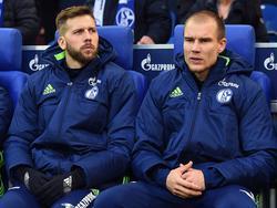 Guido Burgstaller (li.) und Holger Badstuber dürfen für den FC Schalke in der Europa League ran