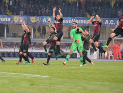 Kein Bild mit Seltenheitswert: Der AC Milan in Feierlaune