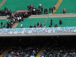 Die Inter-Fans protestieren wegen der schwachen Leistungen