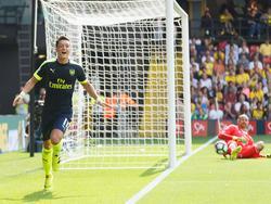 Mesut Özil war beim 3:1 des Arsenal FC per Kopf erfolgreich