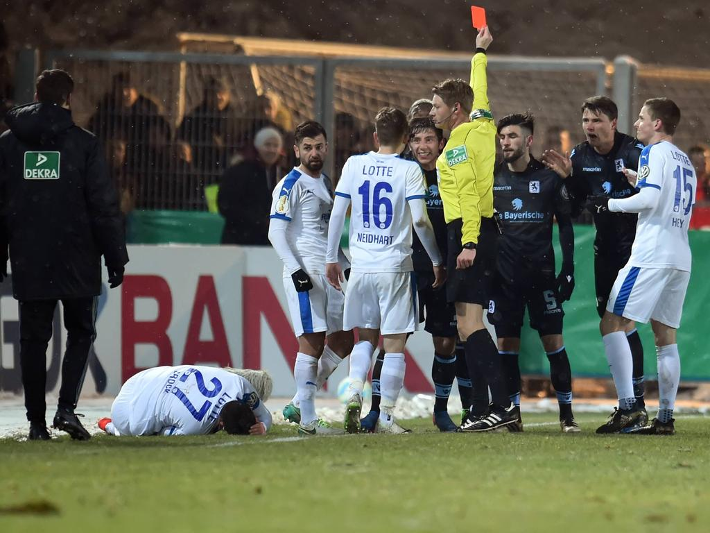 Drei Pokalspiele Sperre für 1860-Stürmer