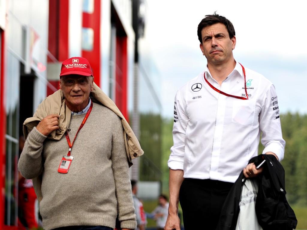 Die Verantwortlichen bei Mercedes: Lauda (links) und Wolff