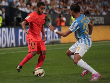 Douglas contra el Málaga en LaLiga. (Foto: Getty)