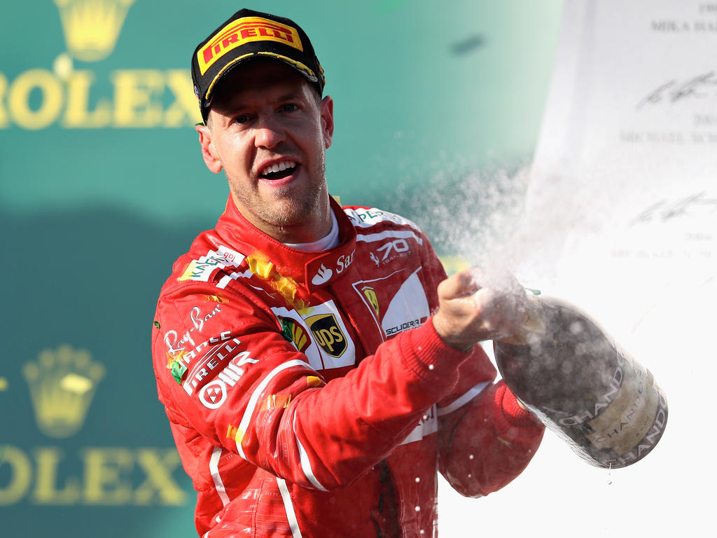 Sebastian Vettel siegte vor Lewis Hamilton